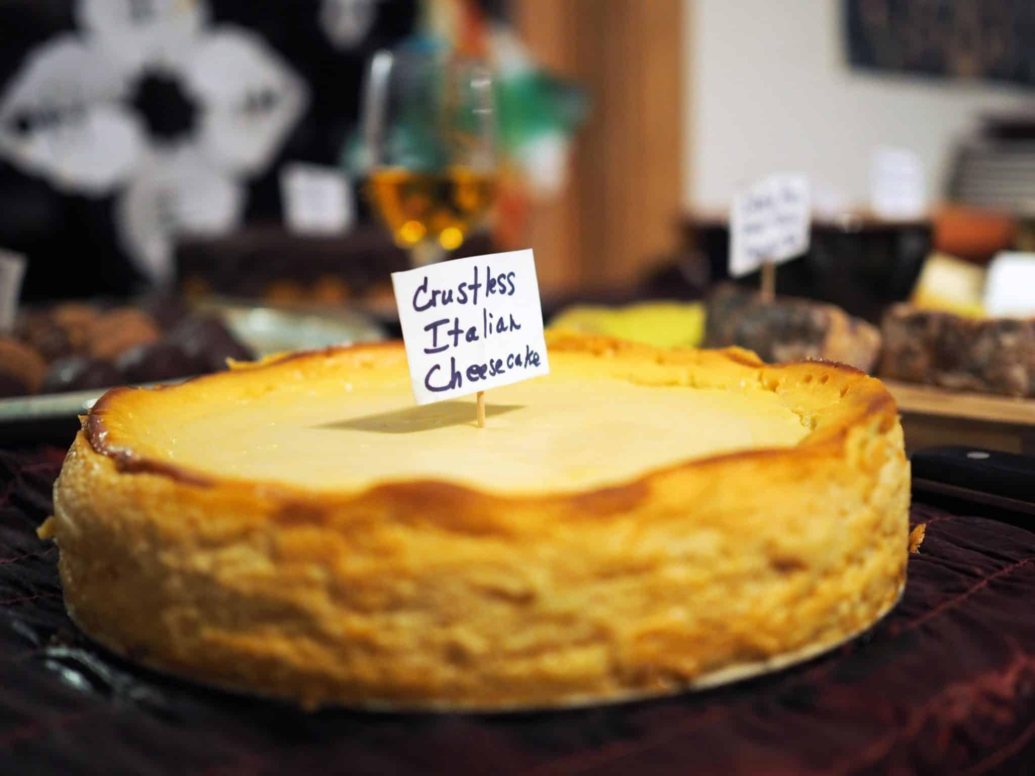 Crustless Italian Cheese Cake