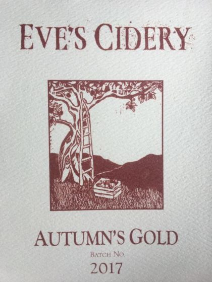 2017 Autumn's Gold label pic